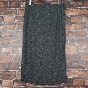 BB Dakota  Black and Silver Midi Skirt